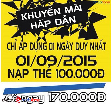 tang 70k nap the 100k mobifone