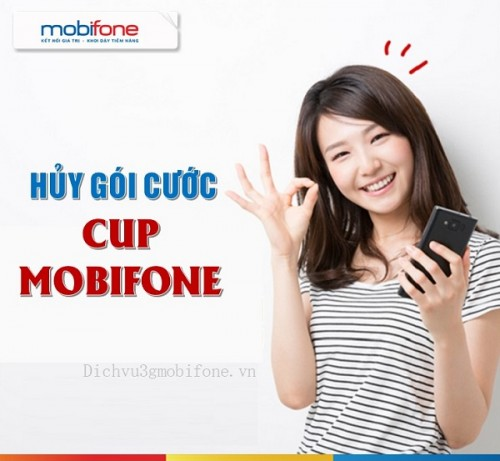huy goi cuoc CUP mang Mobifone